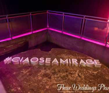 #Ciaoseamirage styro foam letters