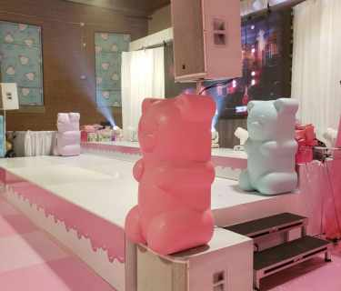 giant gummy bear decorations from styro foam