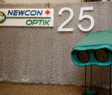 corporate foam sign for newcon optik
