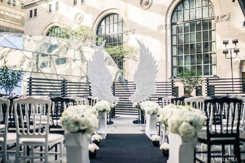 Custom foam wings decor