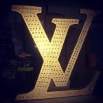 large letters foam decor
