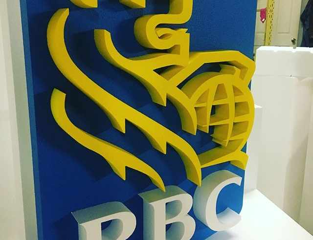 RBC Bank Foam Sign