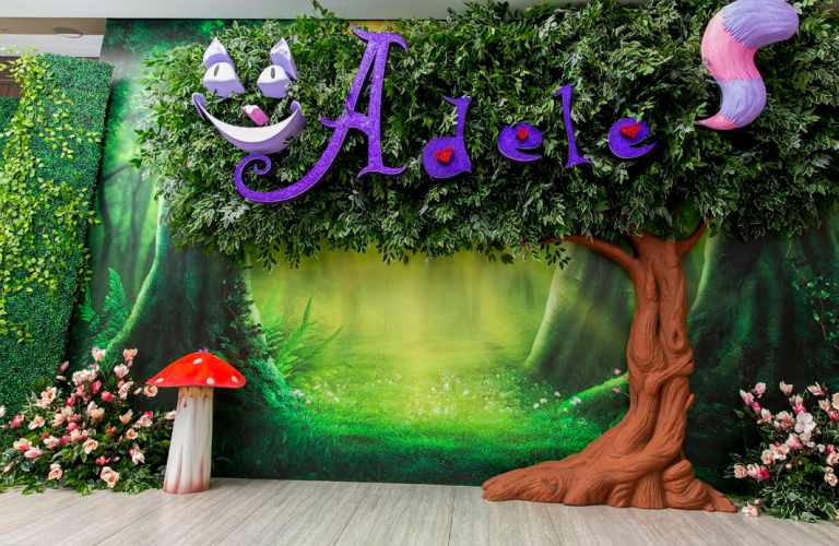 Alice in wonderland event decor