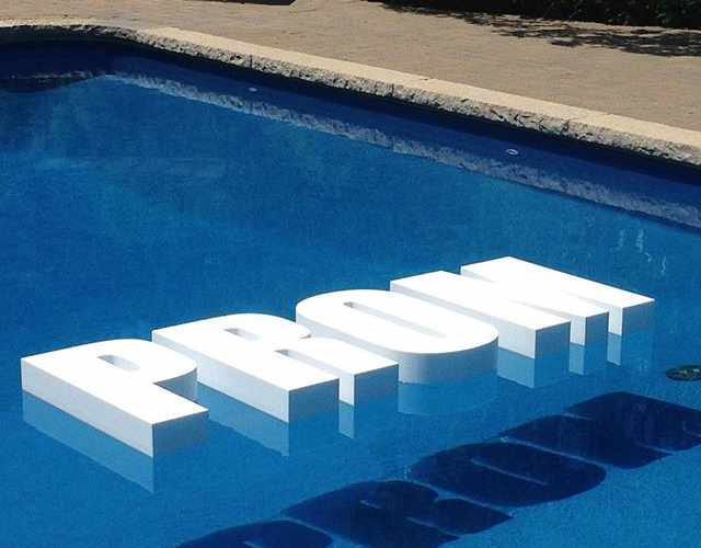 Pool Party decorative floating letters