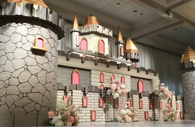 castle decoration made from styro foam