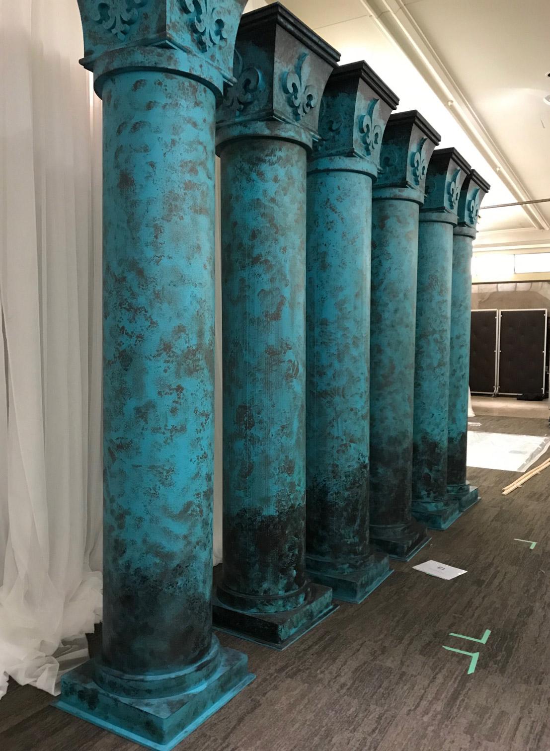 Styrofoam pillars