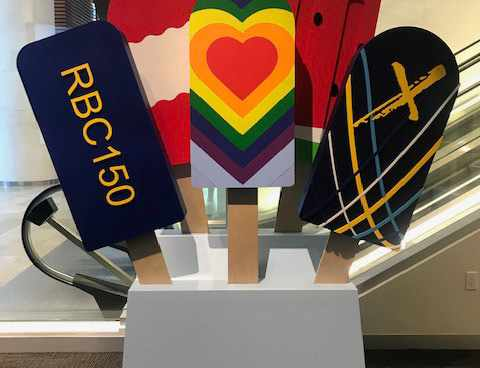 RBC 2019 pride event decor