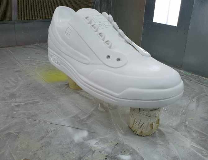 Foam Shoe Before Painting