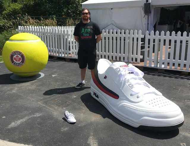Oversize Sfyrofoam Shoe and Ball